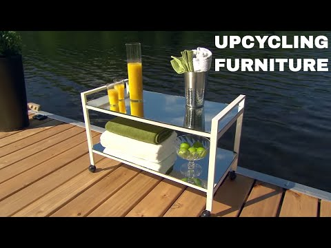 Upcycling an Old TV Table into Miami Chic Trolley