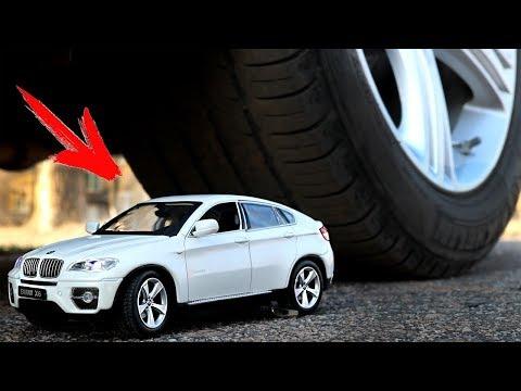 EXPERIMENT: CAR VS BMW X6 toys