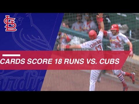 Cardinals score 18 runs vs. the Cubs