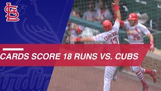 Cardinals score 18 runs vs. the Cubs