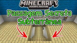 ⭐️Como fazer Passagem Secreta Subterrânea Minecraft PE