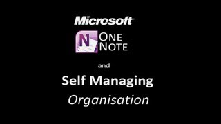 Self Managing - Microsoft One Note & 21st Century Learning