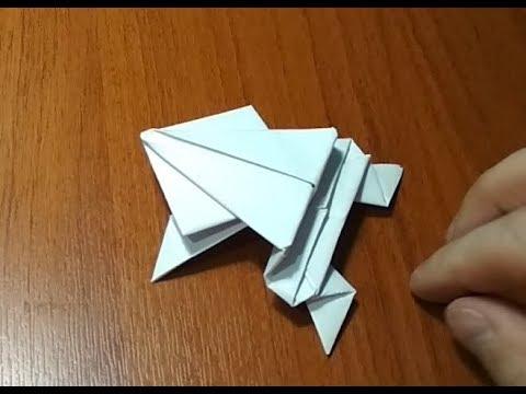 Оригами лягушка видеоурок