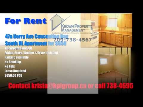 Apartment For Rent Conception Bay South NL
