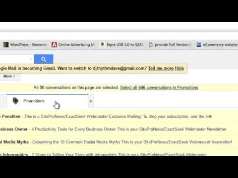 How to delete multiple emails on Gmail