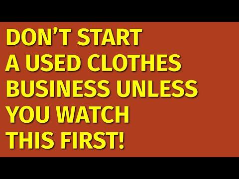 How to Start a Used Clothes Business   Including Free Used Clothes Business Plan Template