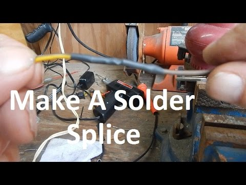How To Solder Splice 2 Wires Together - YouTube