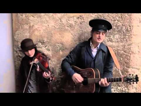 Peter Doherty Playing In The Centre Of Bratislava