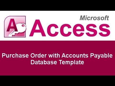 Microsoft Access Basic Business Purchase Order with Accounts Payable - microsoft purchase order template