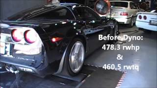 2008 Z06 Corvette Dyno after Headers, Intake Install and tune by Monster Motorsports