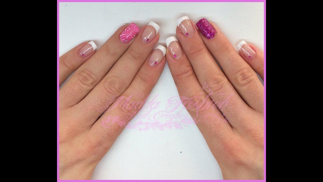 Semipermanente , french bianco classico e nail art