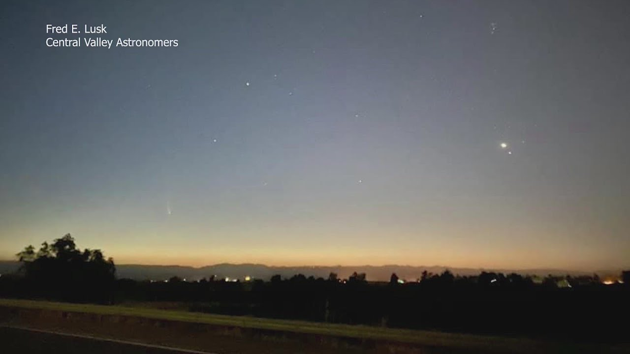 Comet Neowise visible over Central Valley tonight