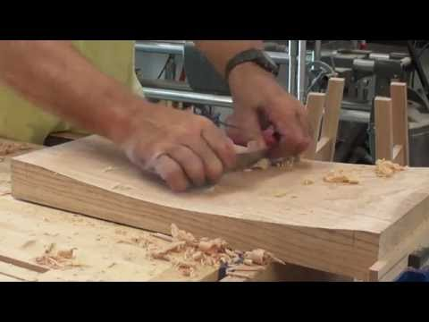 carving out a stool seat by hand -part 2