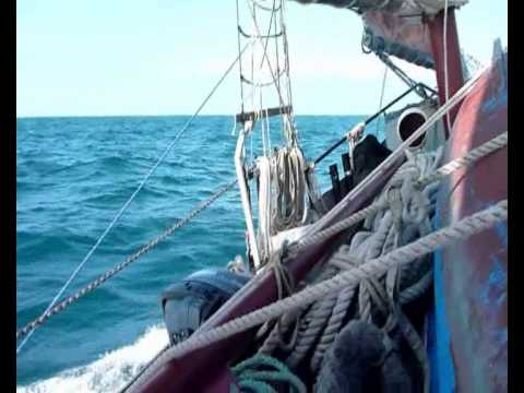 Camaret to Ireland via the Scilly Islands on the small cargo schooner 'Whirled.'