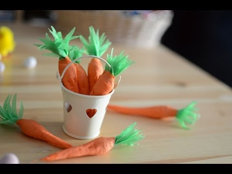 DIY How To Make Paper Carrots Filled With Sweets Easter Decoration In 5min