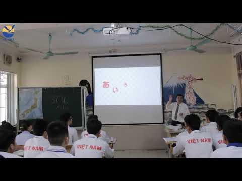 Tiết học tiếng Nhật của thầy giáo người Nhật