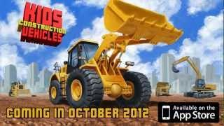 Kids Vehicles: Construction - Iphone / Ipad App Trailer