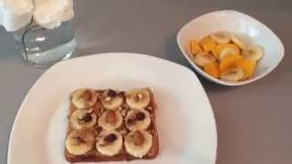 Healthy Breakfast Ideas | Peanut Butter And Banana On Toast