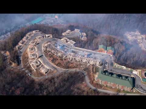 The aftermath of the Gatlinburg wildfires seen from the air
