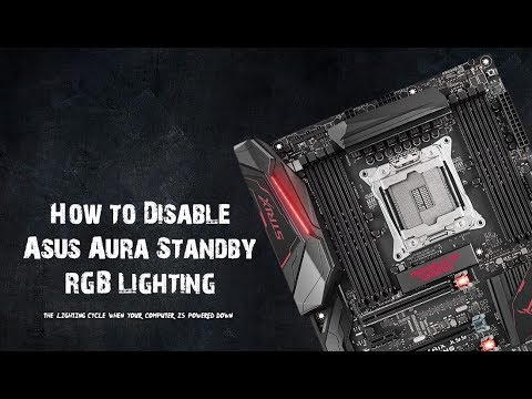 How to Turn Off Asus Motherboard Standby RGB Lighting