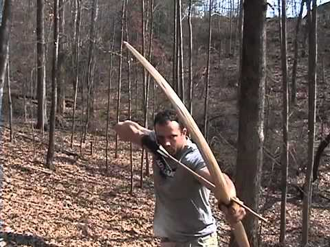 Making A Primitive Bow Part 3 Youtube