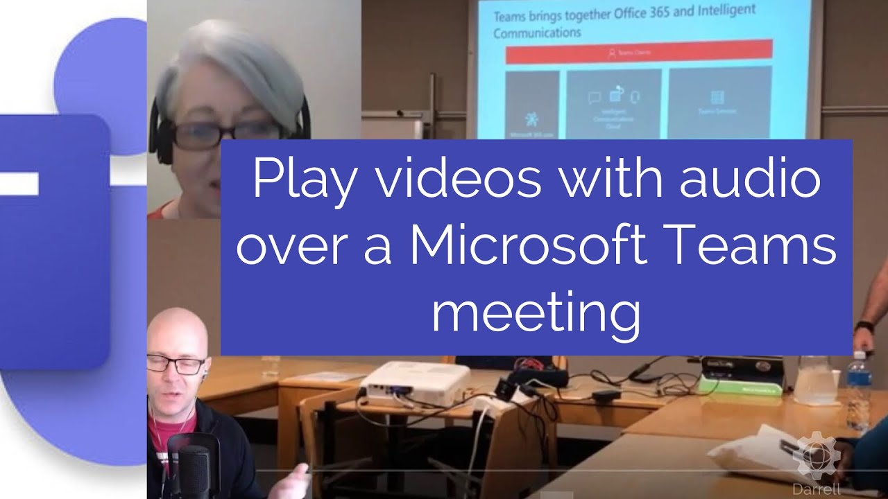 How to play videos with audio over a Microsoft Teams meeting