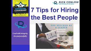 7 Tips for Hiring the Best People
