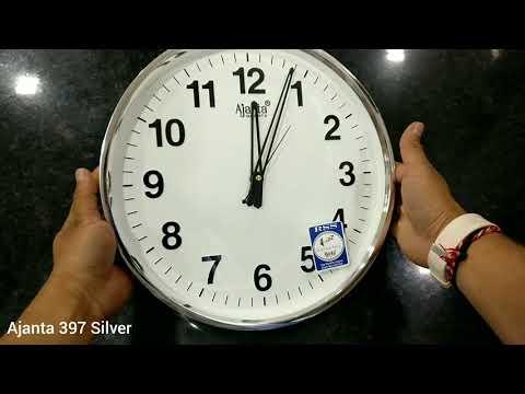 Ajanta 397 ( silver) wall clock quick unboxing at 60fps