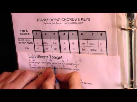 How to Transpose a Song's Chords and Key(MAJOR KEYS)