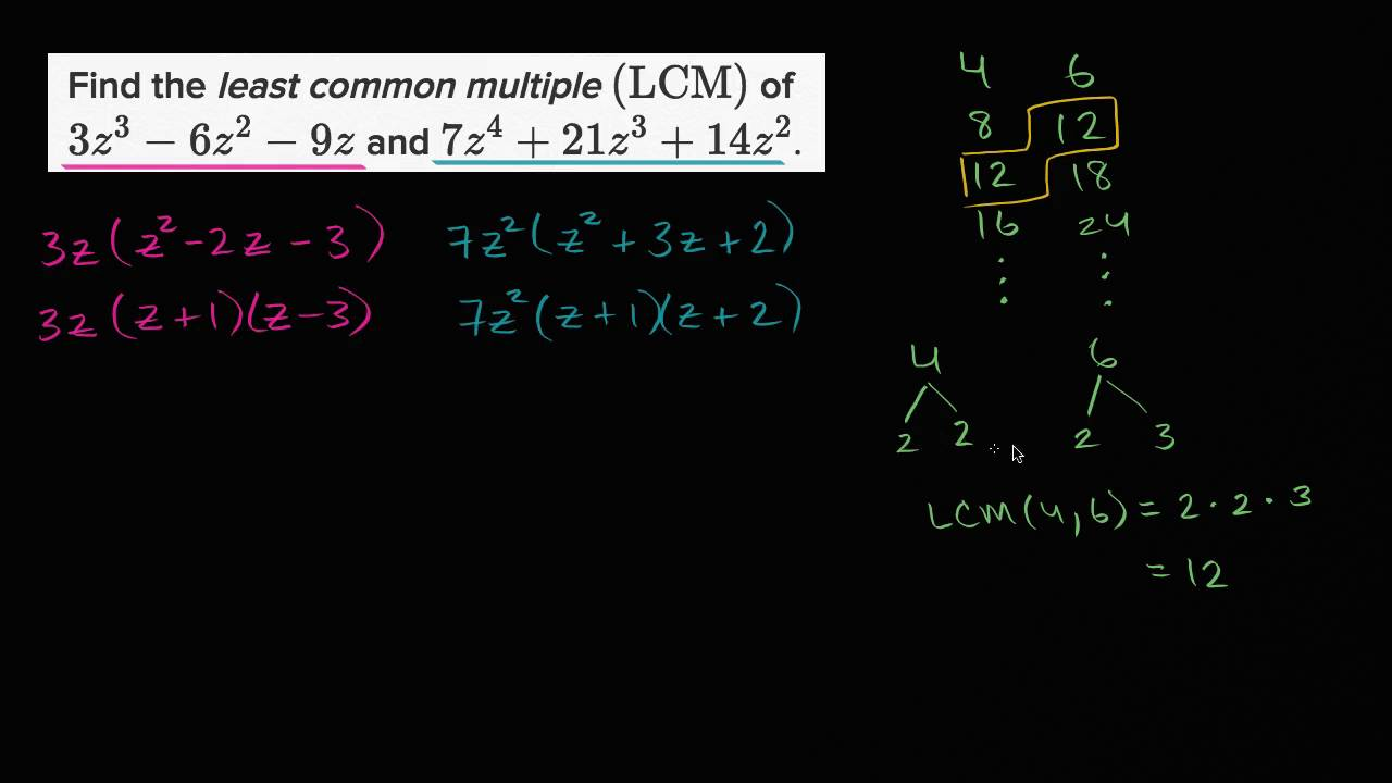 simplest form polynomials calculator  Least common multiple of polynomials (video) | Khan Academy