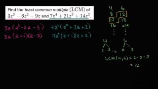 Least Common Multiples Of Polynomials
