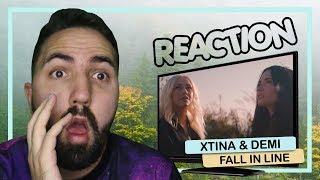 REAÇÃO || Christina Aguilera - Fall In Line ft. Demi Lovato (Official Video)