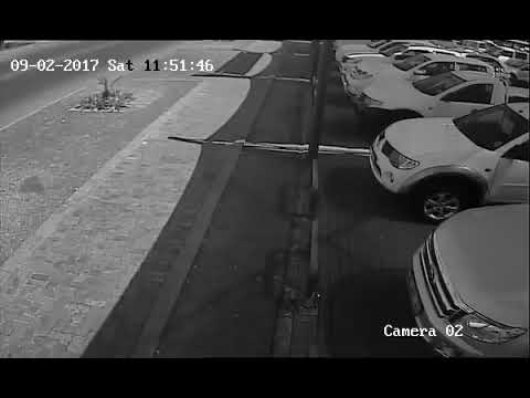 CONVERTIBLE SPORTS CAR INVOLVED IN HORRIFIC ACCIDENT CAUGHT ON CCTV
