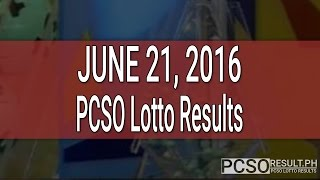 PCSO Lotto Results June 21, 2016 (6/49, 6/42, 6D, Swertres & EZ2)