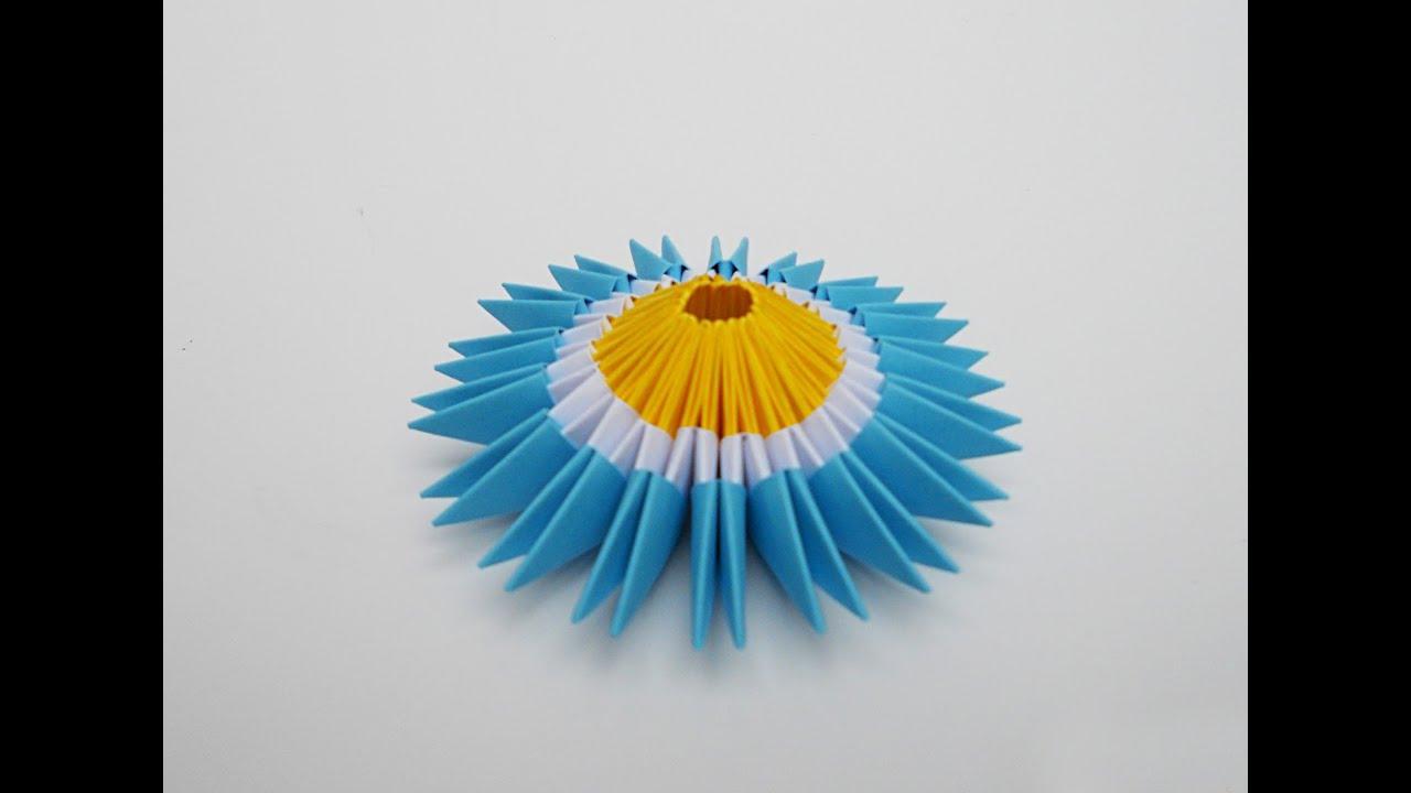 Escarapela argentina origami youtube for Papel de pared argentina