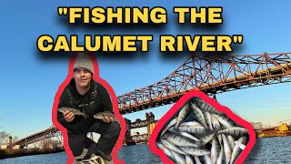 FISHING THE CALUMET RIVER CHICAGO ILLINOIS PERCH FISHING