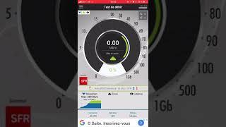 Test débit 4g+ de sfr