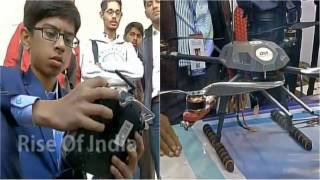 Indian teen designs drone to detect land mines, bags MoU from government