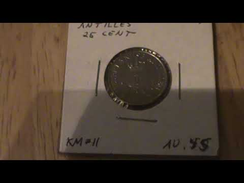 1977 Netherlands Antilles 25 cent