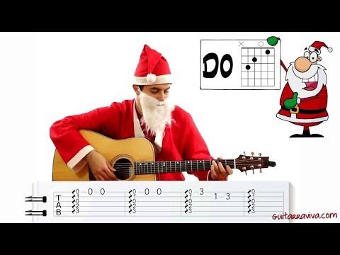 Aprende a tocar guitarra facil Villancicos Navidad Como tocar Navidad Jingle Bells