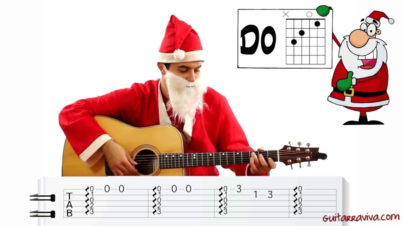 Aprende a tocar guitarra facil Villancicos Navidad Como tocar Navidad ...