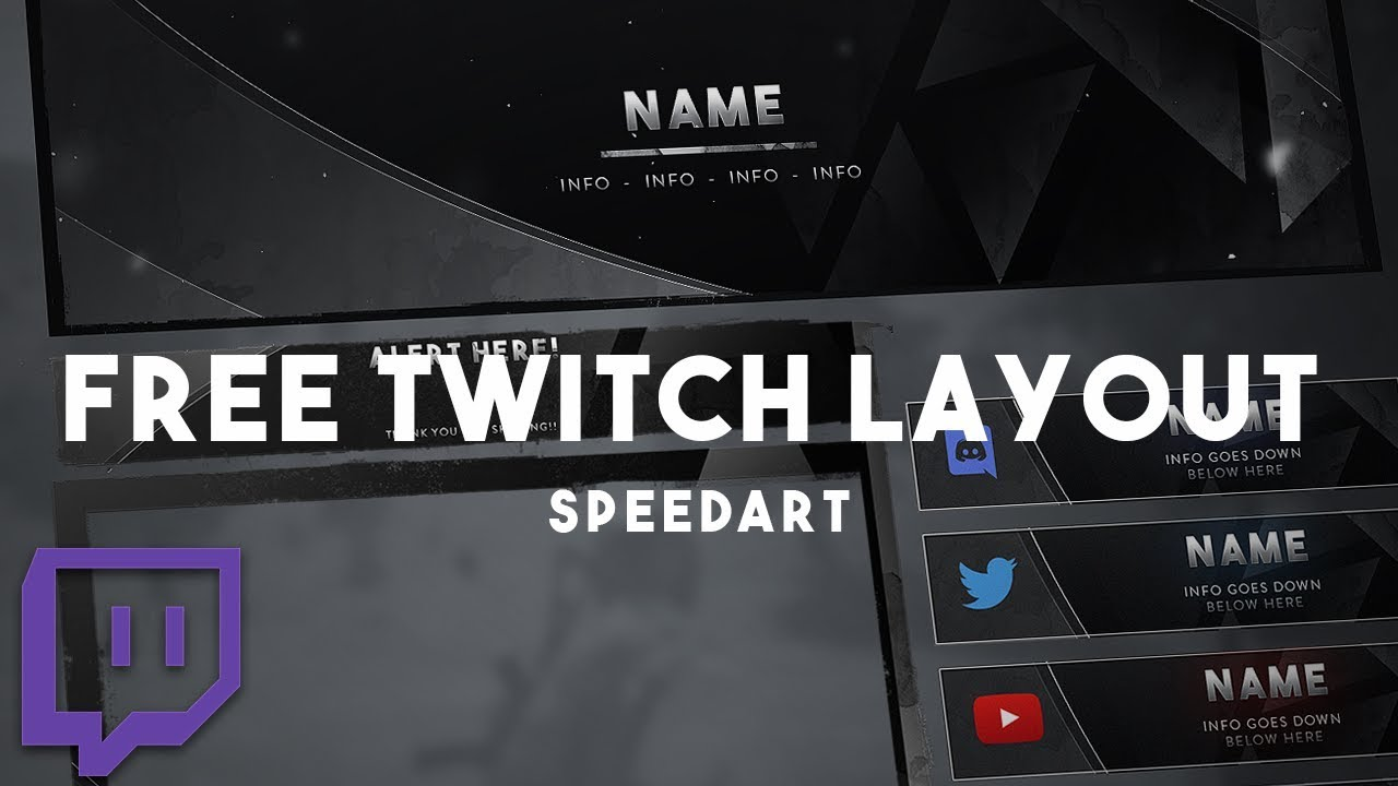twitch layout template - twitch overlay and layout design free download twitch