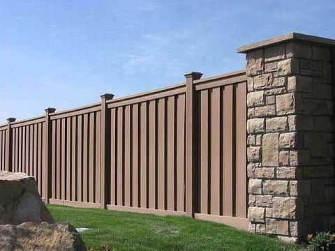 6ft high and 8ft wide wood plastic fence panels - 6ft High And 8ft Wide Wood Plastic Fence Panels - YouTube