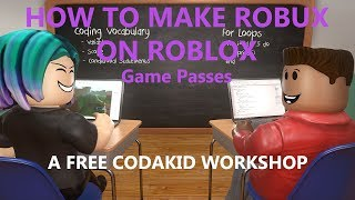 FREE Live Workshop: How to Make Robux on Roblox Part 2 - Game Passes
