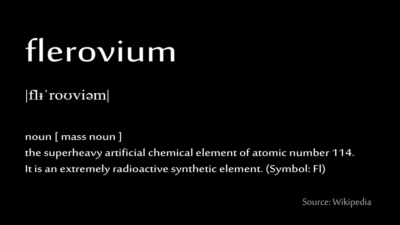 114 flerovium how to pronounce chemical elements periodic table 114 flerovium how to pronounce chemical elements periodic table urtaz Images