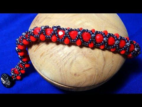 Шикарный браслет из бисера и бусин. Chic Beaded Bracelet