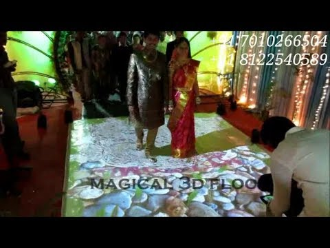 3D interactive Floor Magic Floor Entry Welcome Wedding Marriage Reception Event India +91 8122540589