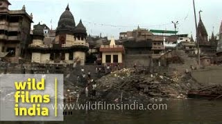 Cremation ghat in Varanasi - Manikarnika Ghat