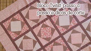 Patchwork Ao Vivo: como aproveitar seus tecidos + manta com bloco Twist