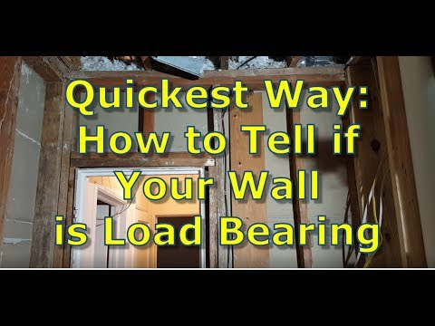 how to tell if your wall is load bearing how to cut a doorway in a load bearing wall youtube. Black Bedroom Furniture Sets. Home Design Ideas